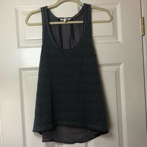 Charcoal tank see through back Aeropostale large